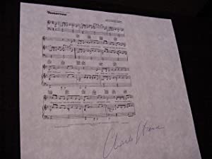 SIGNED MUSICAL SHEET (AMQS): Strouse, Charles