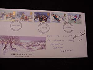 SIGNED FIRST DAY POSTAL COVER (FDC): Le Carre, John