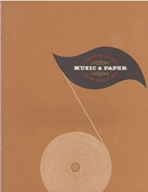 Music & Paper: Provincial's Paper, Volume 27, No. 3, 1962