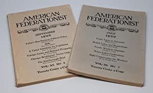American Federationist: Official Magazine of the American: GREEN, William (editor)