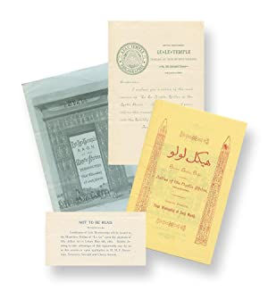 A few items related to the Philadelphia branch of the Ancient Arabic Order of the Nobles of the M...