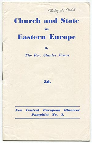 Church and State in Eastern Europe [New Central European Observer Pamphlet No. 3]