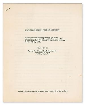 Edward Wilmot Blyden: First Pan-Africanist: SCHOTT, John R.