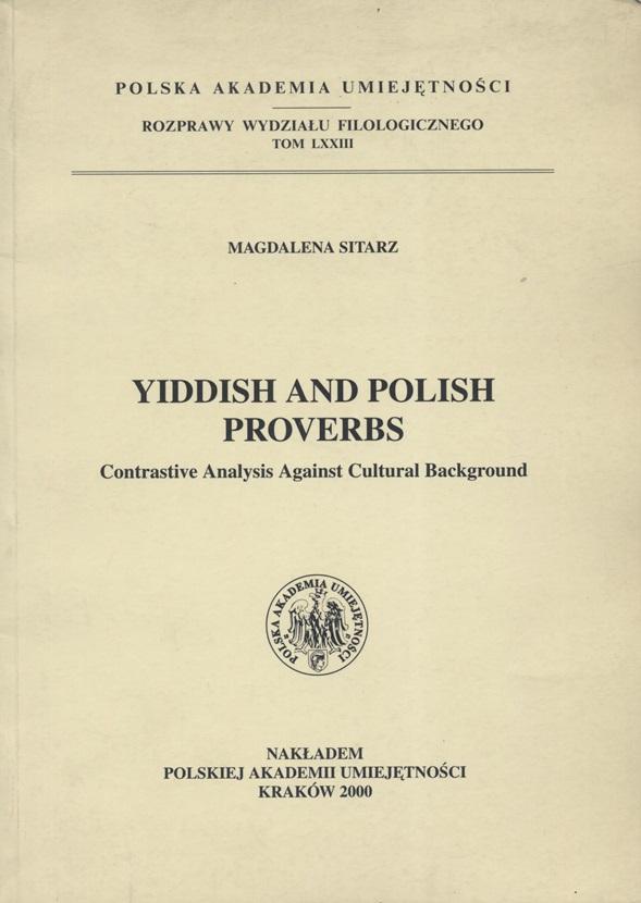 Yiddish And Polish Proverbs Contrastive