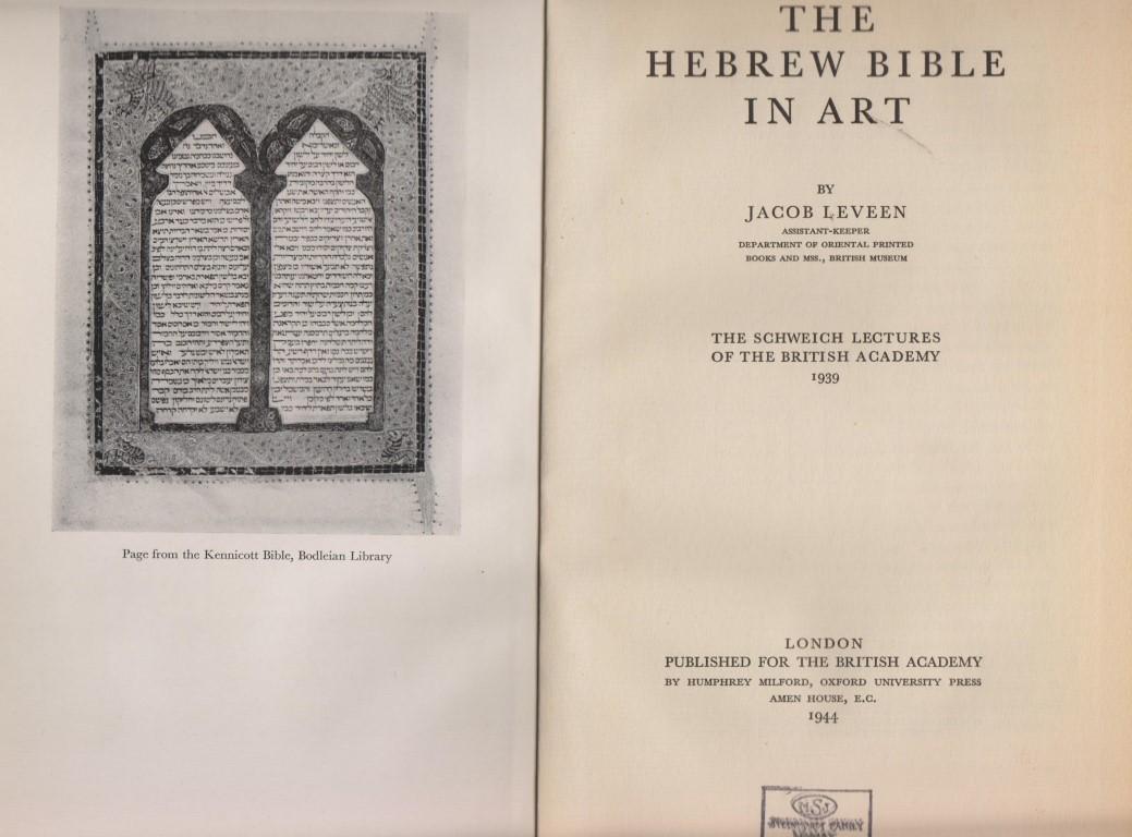THE HEBREW BIBLE IN ART: (Jt) Leveen, Jacob