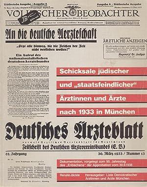 """SCHICKSALE JÜDISCHER UND """"STAATSFEINDLICHER"""" ÄRZTINNEN UND ÄRZTE NACH 1933..."""
