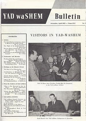 YAD VASHEM BULLETIN, NO 1-10: 1957-1961: Yad Va-Shem, Rashut Ha-Zikaron La-Shoah Vela-Gevurah.