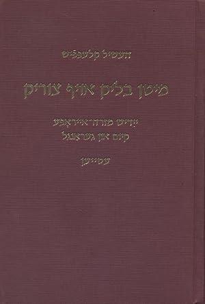 MITN BLIK OYF TSURIK: YIDISH MIZREH-EYROPE: KIEM UN GERANGL: ESEYEN: Klepfisz, Heszel.