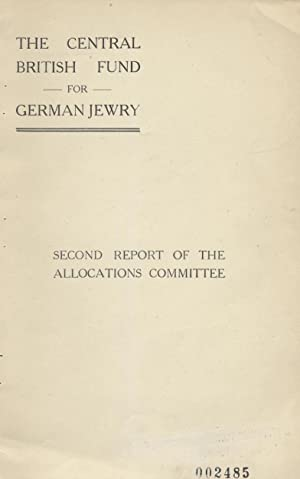 SECOND REPORT OF THE ALLOCATIONS COMMITTEE: COVERING THE PERIOD FROM MARCH 1ST, 1934 TO DECEMBER ...