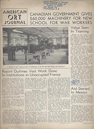 AMERICAN ORT JOURNAL; VOLUME 10 [NUMBERS 1-3]: American Ort Federation