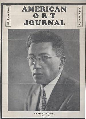 AMERICAN ORT JOURNAL; VOLUME 6 [NUMBERS 10, 11]: American Ort Federation