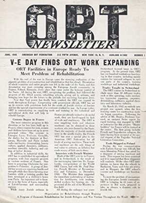 ORT NEWSLETTER [JUNE 1945, NUMBER 1]: American Ort Federation.