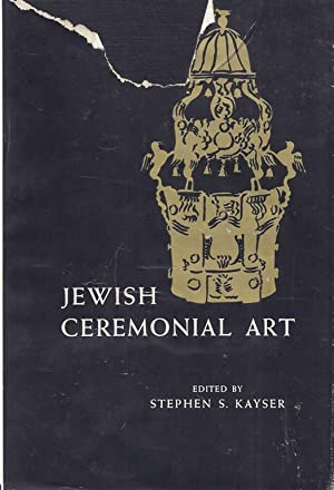 JEWISH CEREMONIAL ART; A GUIDE TO THE APPRECIATION OF THE ART OBJECTS USED IN SYNAGOGUE AND HOME, ...