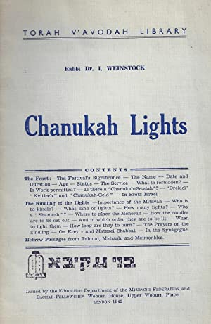 CHANUKAH LIGHTS: Weinstock, I.