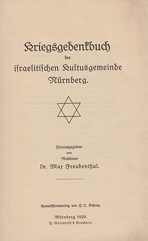 KRIEGSGEDENKBUCH DER ISRAELITISCHEN KULTUSGEMEINDE NÜRNBERG: Freudenthal, Max