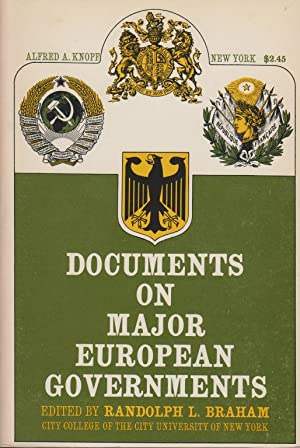DOCUMENTS ON MAJOR EUROPEAN GOVERNMENTS: BR) Braham, Randolph L.