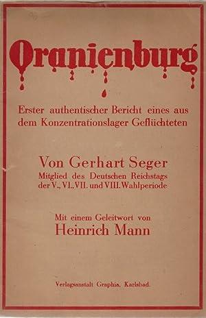 Oranienburg : erster authentischer Bericht eines aus dem Konzentrationslager Gefluchteten: ...