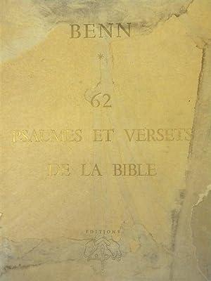 62 PSAUMES ET VERSETS DE LA BIBLE [with additional original color pencil drawing laid in]: Benn, [...