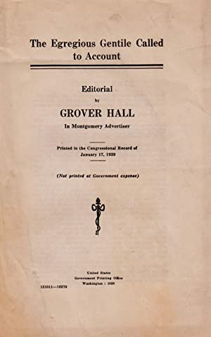 THE EGREGIOUS GENTILE CALLED TO ACCOUNT: Hall, Grover