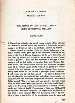 THE RESCUE OF JEWS IN THE ITALIAN ZONE OF OCCUPIED CROATIA: Carpi, Daniel