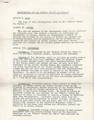 JEWISH WELFARE BOARD – REQUEST FOR INVESTIGATION [FORM]: Jewish Welfare Board