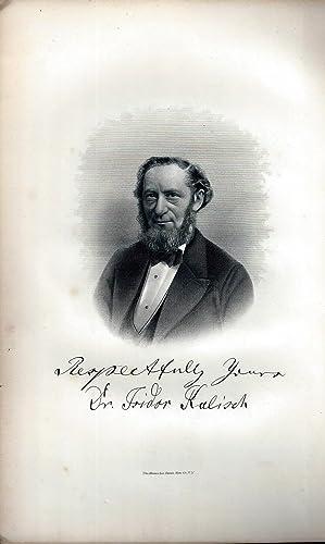 IN MEMORIAM - REV. DR. ISIDOR KALISCH, OF NEWARK, NEW JERSEY.: Kalisch, Isidor, Rev. Dr)