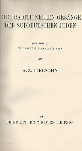 HEBRÄISCH-ORIENTALISCHER MELODIENSCHATZ, ZUM ERSTEN MALE GESAMMELT: -- V. 7. DIE ...