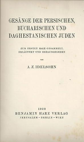 HEBRÄISCH-ORIENTALISCHER MELODIENSCHATZ, ZUM ERSTEN MALE GESAMMELT: -- V. 3. GESÄNGE DER ...