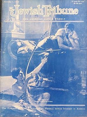 THE JEWISH TRIBUNE, [NOVEMBER 1 1929] [HOMO-EROTIC: Mosessohn, David Nehemiah