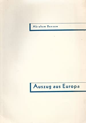 AUSZUG AUS EUROPA: Bensew, Abraham.
