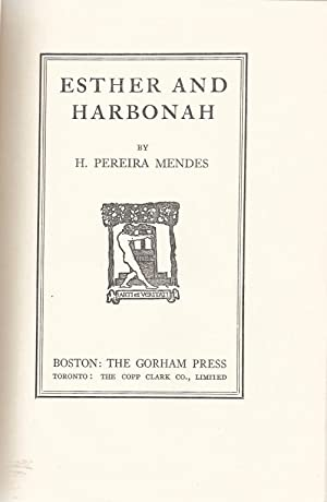 ESTHER AND HARBONAH: Mendes, H. Pereira