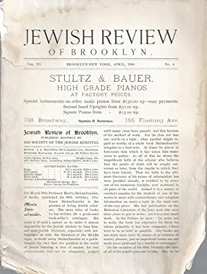 JEWISH REVIEW OF BROOKLYN [VOL. III ; NO. 4]: Magnes, J. L.