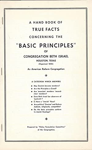 A HAND BOOK OF TRUE FACTS CONCERNING: Ban On Zionist
