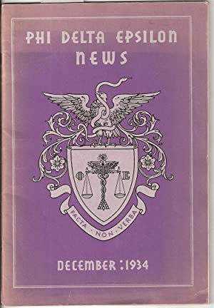 PHI DELTA EPSILON NEWS. VOL XXV NO 4.