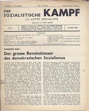 DER SOZIALISTISCHE KAMPF. LA LUTTE SOCIALISTE. NO 5. 30. JULI 1938.: Bauer, Otto. editor.