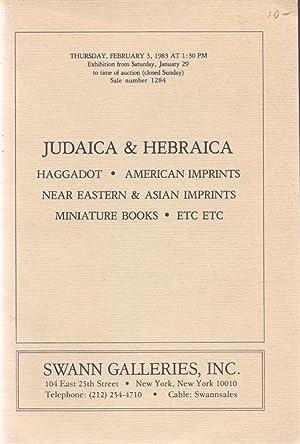 13 SWANN GALLERIES JUDAICA AUCTION CATALOGS FROM: Swann Galleries
