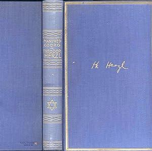 THEODOR HERZL, SEIN LEBEN UND SEIN VERMÄCHTNIS [AUTHOR INSCRIBED]: Georg, Manfred (Manfred ...