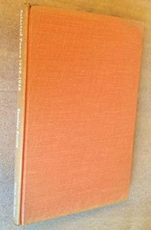 Selected Poems 1928-1958: Stanley Kunitz