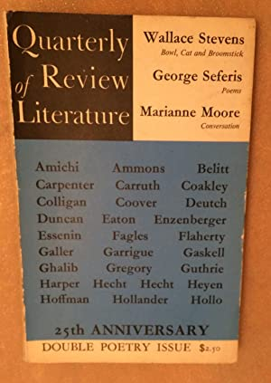 Quarterly Review of Literature Volume XVI numbers: Wallace Stevens, George