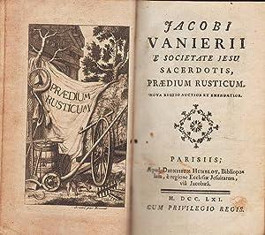 Jacobi Vanierii e Societate Jesu Sacerdotis, Praedium: VANIERE Jacques (1664