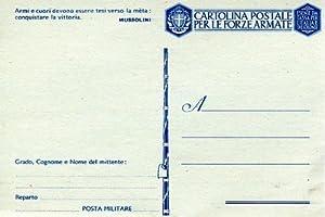 Esente da tassa per l'Italia e sue: CARTOLINA POSTALE PER