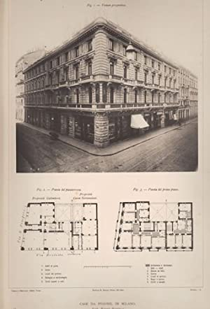 Case da pigione a Milano (Tra via S. Prospero e via Broletto). Architetto R. Bottelli.: ...