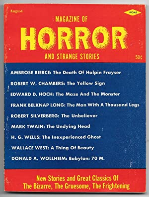 Magazine of Horror and Strange Stories: Vol.1, No. 1