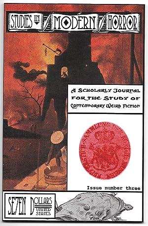 Studies in Modern Horrror: A Scholarly Journal: Christakos, N. G.,