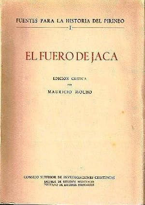 El fuero de Jaca. Edición crítica: Molho, Mauricio