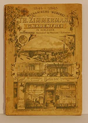 Th.Zimmermann; Mechanische Weberei; Katalog 1894 - 1895