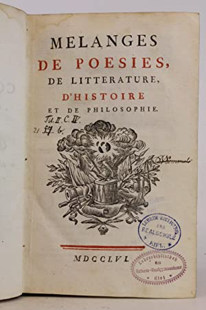 Collection Complette des Oeuvres. Premiere Edition Tome Second: Melanges de Poesies, de Litteratu...
