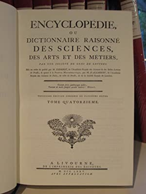 Encyclopedie, ou Dictionnaire Raisonne des Sciences, des: M. / M.