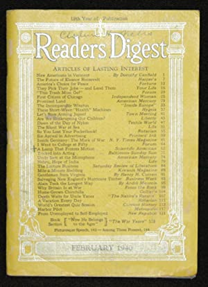 Readers Digest February 1940 (Winston Churchill): Various