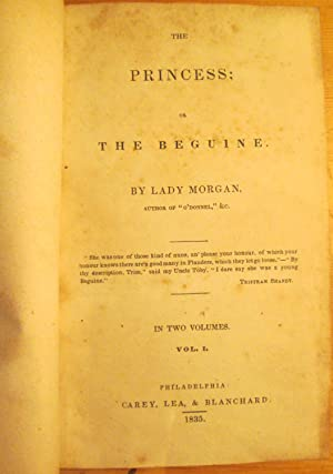 The Princess or The Beguine: Lady Morgan ((Sydny Owenson)